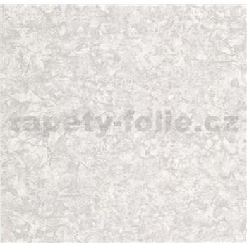 Vliesové tapety na stenu Einfach Schoner 3 štruktúrovaná omietkovina sivá so striebornými odleskami