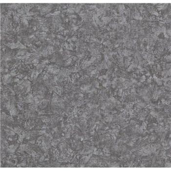 Vliesové tapety na stenu Einfach Schoner3 štruktúrovaná omietkovina čierna so striebornými odleskami