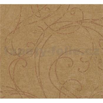 Vliesové tapety na stenu MERINO ornamenty na metalickom zlatom podklade