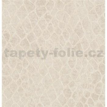 Vliesové tapety na stenu MERINO abstrakt na metalicky svetle hnedom podklade