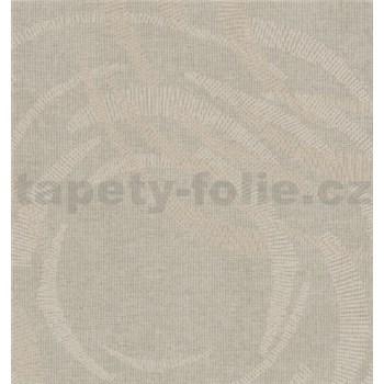 Vliesové tapety na stenu MERINO moderné metalické kruhy sivé