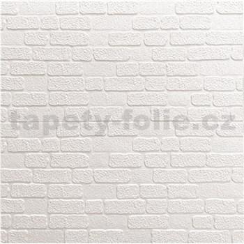 Samolepiace penové 3D panely rozmer 70 x 70 cm, tehla malá biela