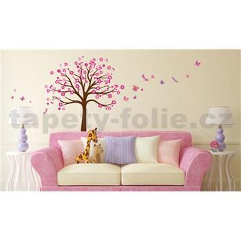 Samolepky na stenu strom ružový