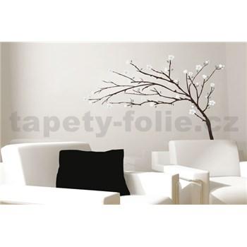 Samolepky na stenu strom s bielymi kvetmi