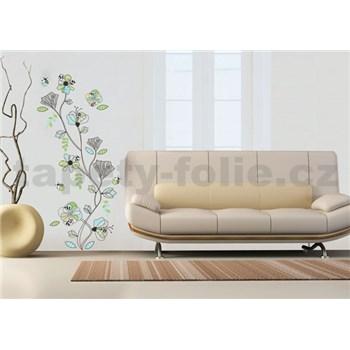 Samolepky na stenu kvety abstraktné
