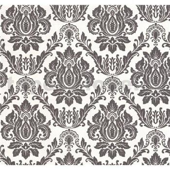Vliesové tapety na stenu Seasons zámocký vzor čierny na bielom podklade