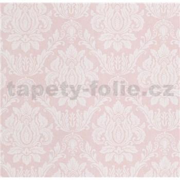 Vliesové tapety na stenu Seasons zámocký vzor biely na ružovom podklade