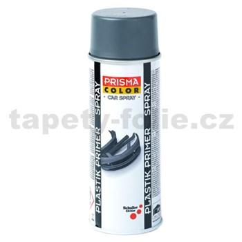 Sprej PRIMER PLASTIK tmavo sivý 400ml, základová farba na plasty