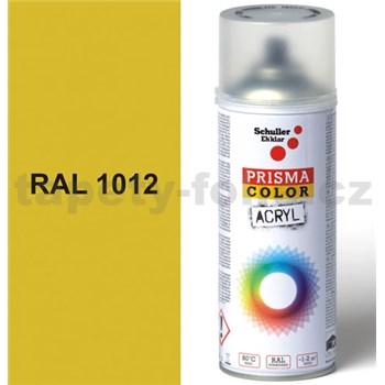 Sprej žltý lesklý 400ml, odtieň RAL 1012 farba citrónovo žltá lesklá