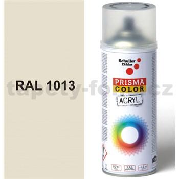 Sprej biely lesklý 400ml, odtieň RAL 1013 farba perlovo biela lesklá