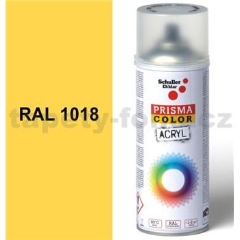 Sprej slnečno žltý lesklý 400ml, odtieň RAL 1018 farba slnečno žltá lesklá