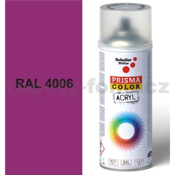 Sprej fialový lesklý 400ml, odtieň RAL 4006 farba dopravná purpurová lesklá