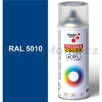 Sprej modrý lesklý 400ml, odtieň RAL 5010 farba enciánová modrá lesklá