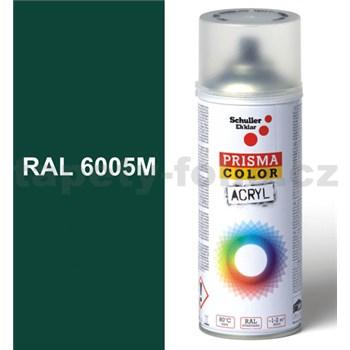 Sprej zelený matný 400ml, odtieň RAL 6005 farba machovo zelená matná