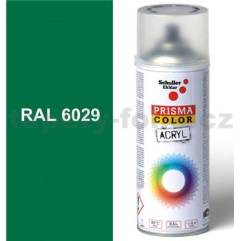 Sprej zelený lesklý 400ml, odtieň RAL 6029 farba mätovo zelená lesklá