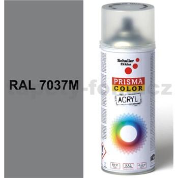 Sprej prachovo sivý matný 400ml, odtieň RAL 7037M farba prachovo sivá matná