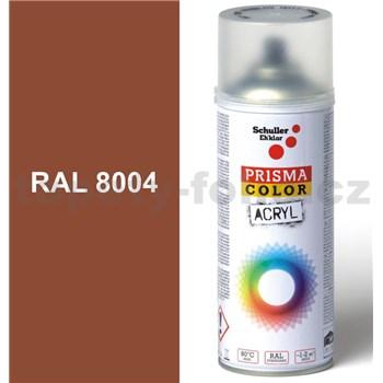 Sprej medeno hnedý lesklý 400ml odtieň RAL 8004 farba medená hnedá lesklá