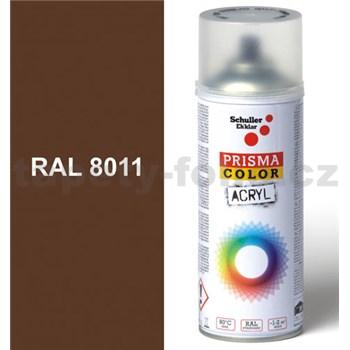 Sprej hnedý lesklý 400ml, odtieň RAL 8011 farba orechovo hnedá lesklá