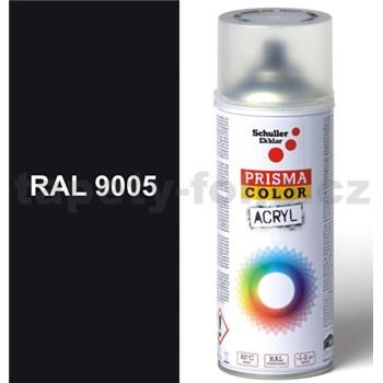 Sprej čierny lesklý 400ml odtieň RAL 9005 farba čierna lesklá