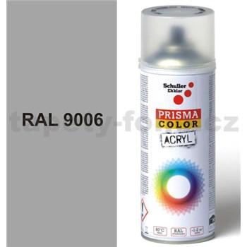 Sprej sivý lesklý 400ml, odtieň RAL 9006 farba biela hliníková lesklá