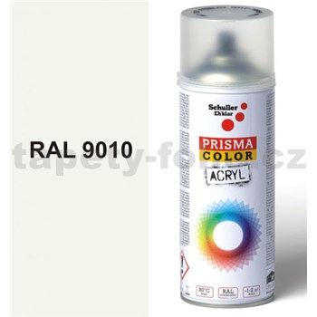Sprej biely lesklý 400ml odtieň RAL 9010 farba biela lesklá