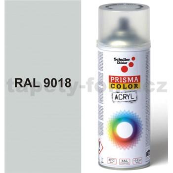 Sprej svetlo šedý lesklý 400ml, odtieň RAL 9018 farba papyrus šedá lesklá