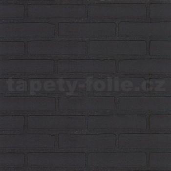 Tapety na stenu Stones and Style - tehla čierna
