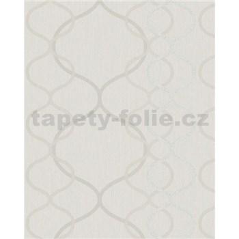 Vliesové tapety na stenu Summer Time vlnovky krémové, strieborné, biele na krémovom podklade