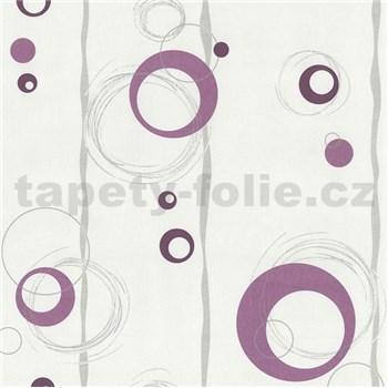 Vliesové tapety na stenu Collection 2 kolieska fialové