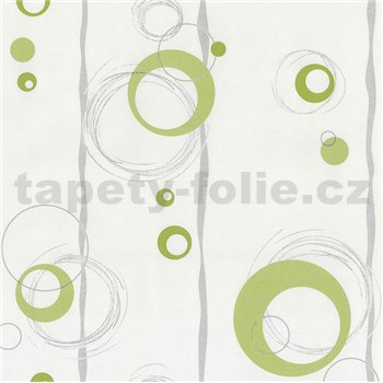 Vliesové tapety na stenu Collection 2 kolieska zelené