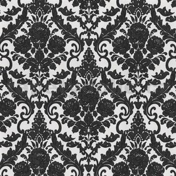 Vliesové tapety na stenu Hypnose zámocký vzor čierny