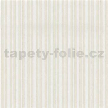 Vliesové tapety na stenu Hypnose pruhy biele na krémovom podklade