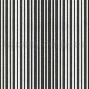 Vliesové tapety na stenu Hypnose pruhy čierne