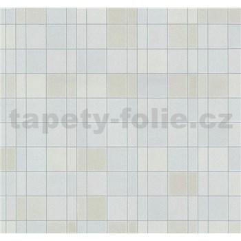 Vliesové tapety na stenu Easy Wall obklad kachličky svetle hnedo-modré