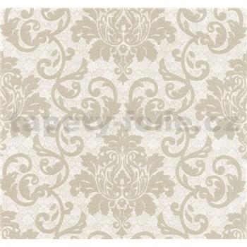 Vliesová tapeta na stenu Florence zámocký vzor svetlo hnedý  - POSLEDNÉ KUSY