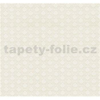 Vliesová tapeta na stenu Florence zámocký ornament malý biely