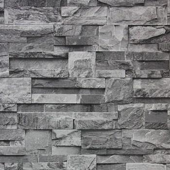 Vinylové tapety kamenný obklad sivý