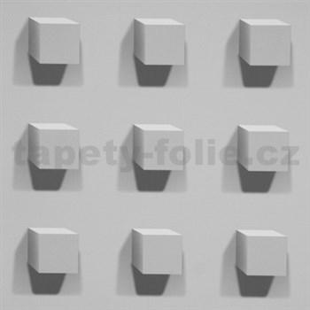 Vliesové tapety Kinetic 3D kocky sivé
