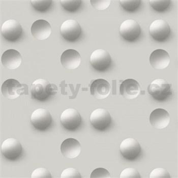 Vliesové tapety Just Like It 3D guličky sivé - POSLEDNÉ KUSY