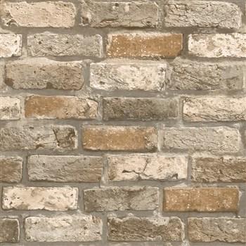 Papierové tapety na stenu IMPOL tehla hnedá