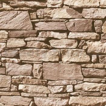 Vliesové tapety na stenu Roll in Stones štiepaný kameň hnedý