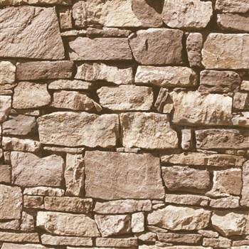 Papierové tapety na stenu IMPOL kamenná stena hnedá