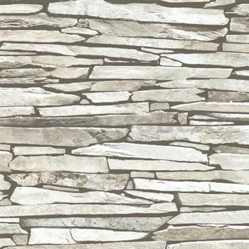 Vliesové tapety na stenu Kaleidoscope ukladaný kameň svetlo hnedý