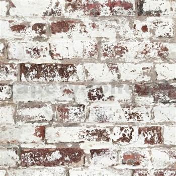 Vliesové tapety na stenu Virtual Vision tehla s bielou maľbou