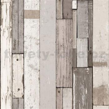 Vliesové tapety na stenu Virtual Vision drevené doštičky svetlo hnedé