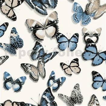Vliesové tapety na stenu Virtual Vision motýle modré