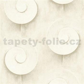 Vliesové tapety na stenu Virtual Vision 3D špirály svetlo hnedé - POSLEDNÉ KUSY