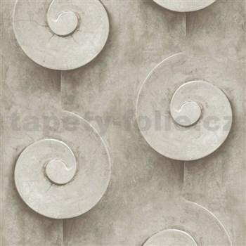 Vliesové tapety na stenu Virtual Vision 3D špirály hnedé