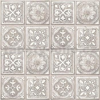 Vliesové tapety na stenu Virtual Vision obklad s ornamentom hnedý