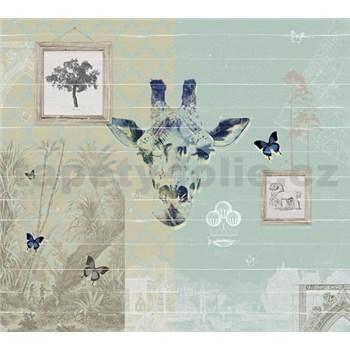 Luxusné vliesové fototapety Žirafa BEZ TEXTU 300 x 270cm